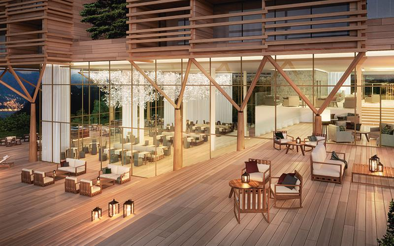 Serpiano Wellness Resort bar restaurant and lobby, Serpiano (CH), 2012