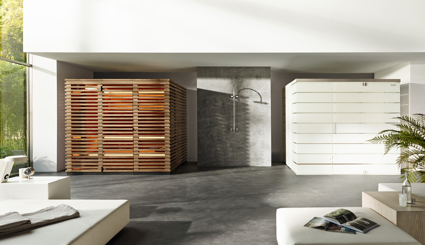 Klafs sauna and steam bath designed by Matteo Thun and Antonio Rodriguez