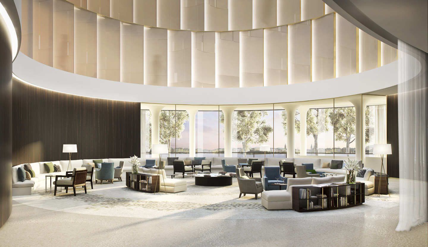 The Fontenay luxury hotel, lobby. A project with Störmer Murphy and Partners