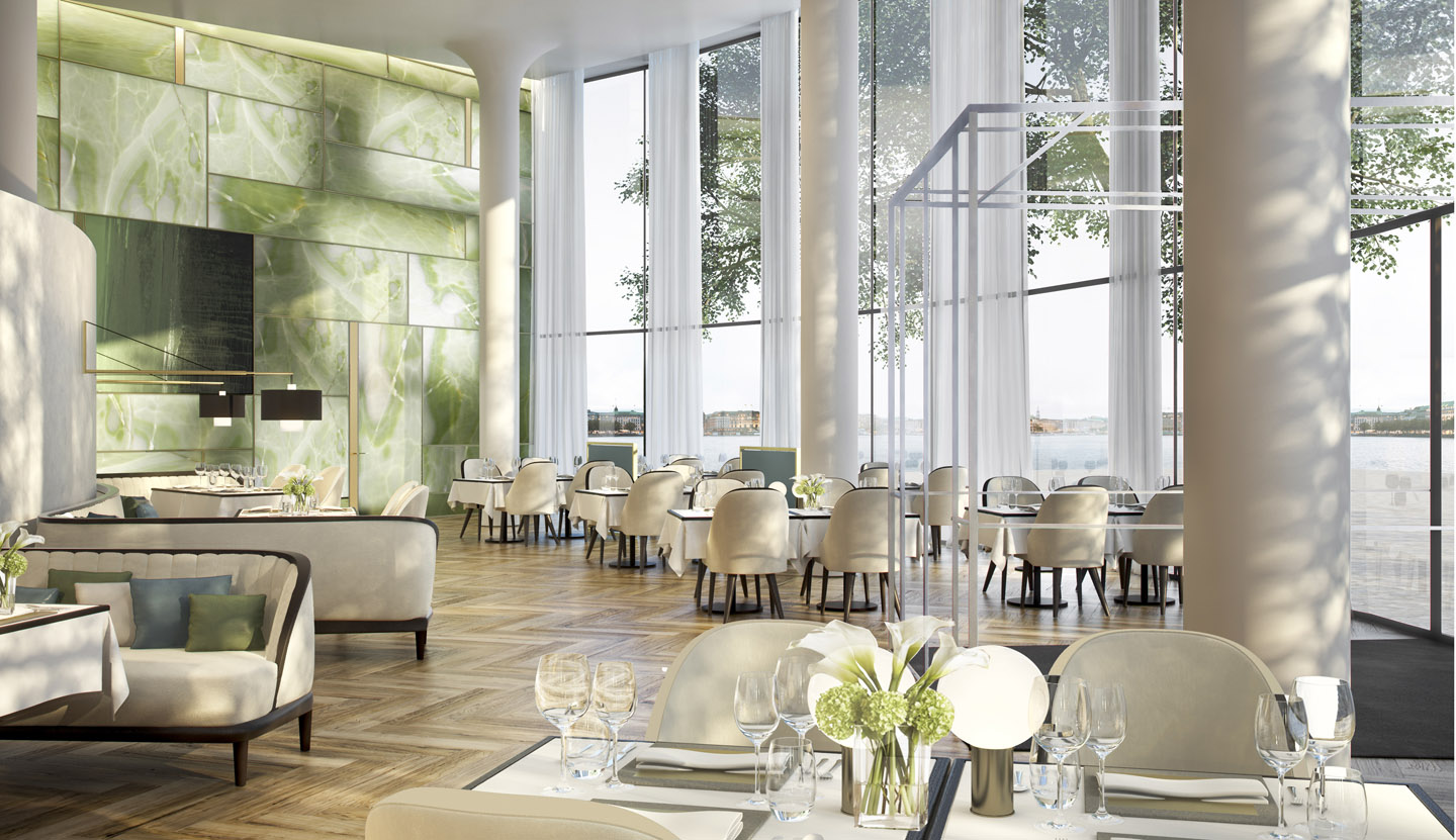 The Fontenay luxury hotel, restaurant. A project with Störmer Murphy and Partners
