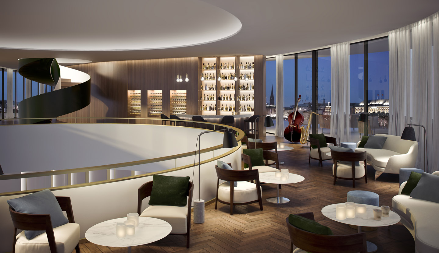 The Fontenay luxury hotel, pianobar. A project with Störmer Murphy and Partners