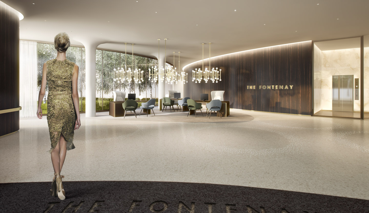 The Fontenay luxury hotel, reception. A project with Störmer Murphy and Partners