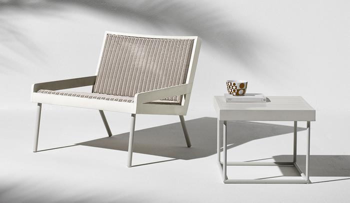 Ethimo, Allaperto, Grand Hotel armchair with coffee table