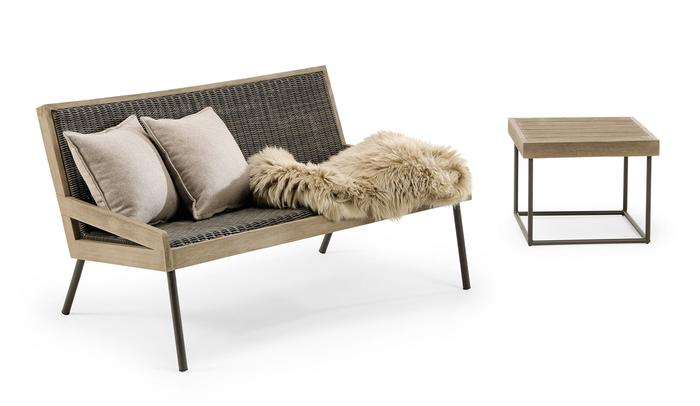 Ethimo, Allaperto, Mountain sofa + coffee table