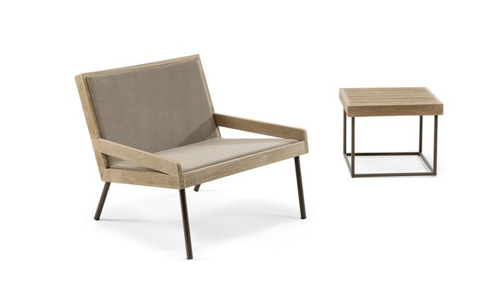 Ethimo, Allaperto, Urban armchair + coffee table