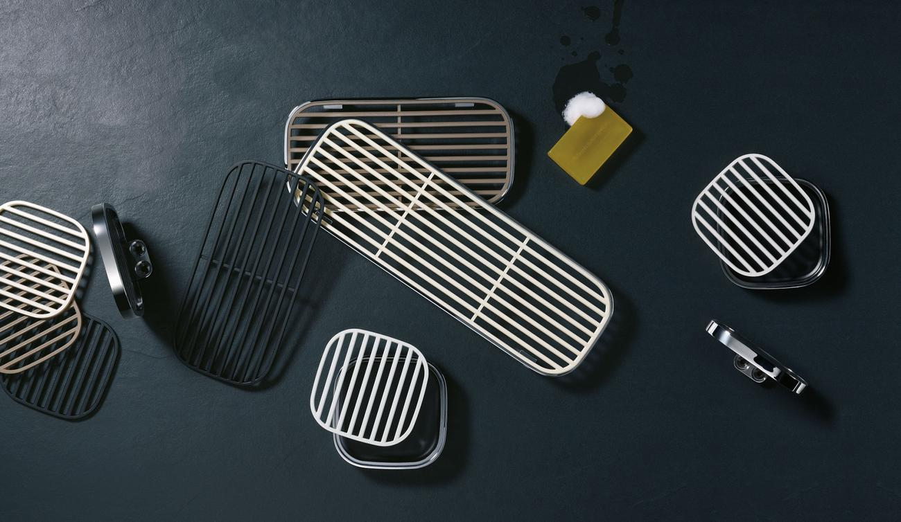 Gentle, bathroom accessories collection for Dornbracht, 2012