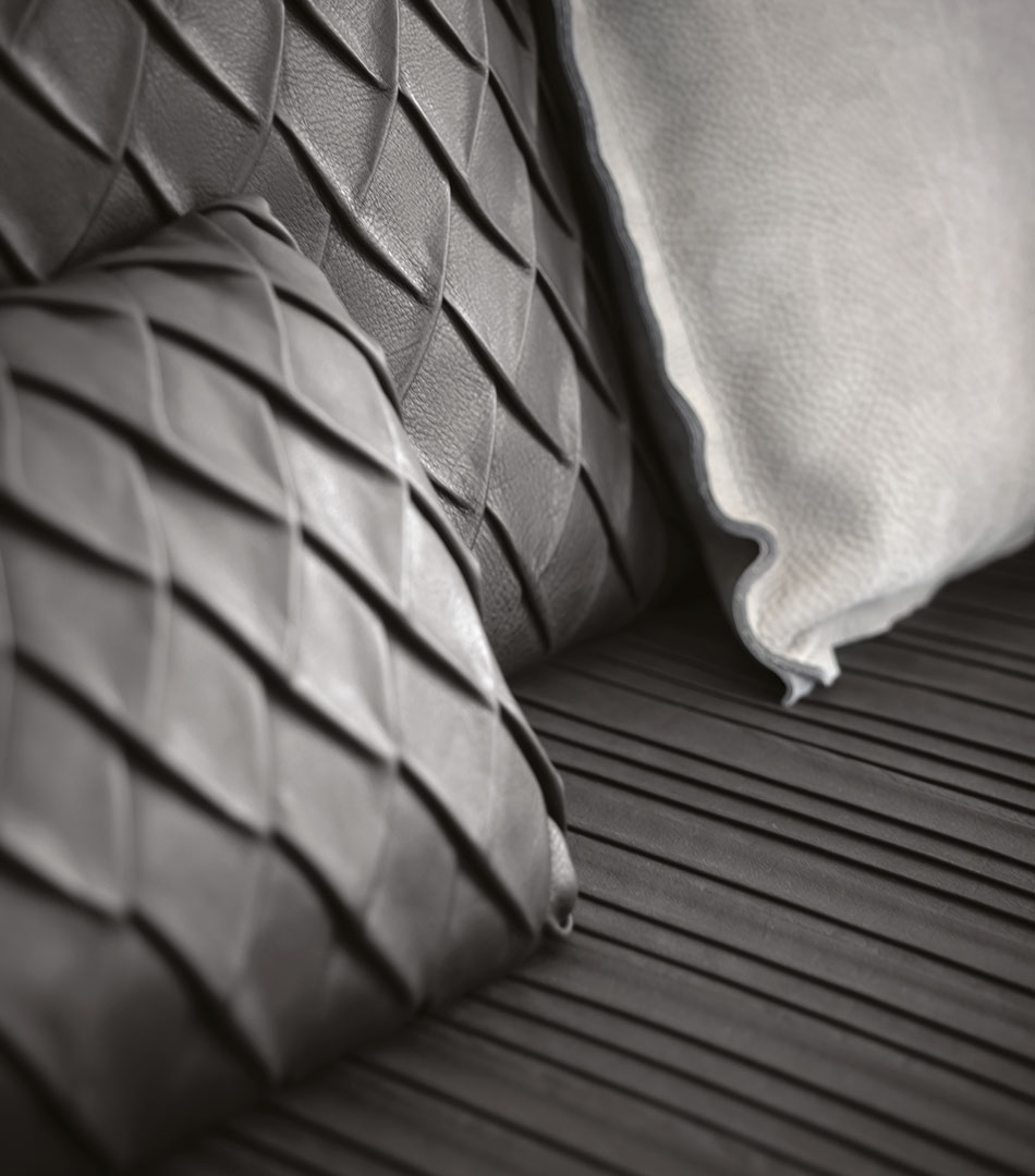 Ici Bourgeois!, furniture collection for Baxter, 2012, detail of materials