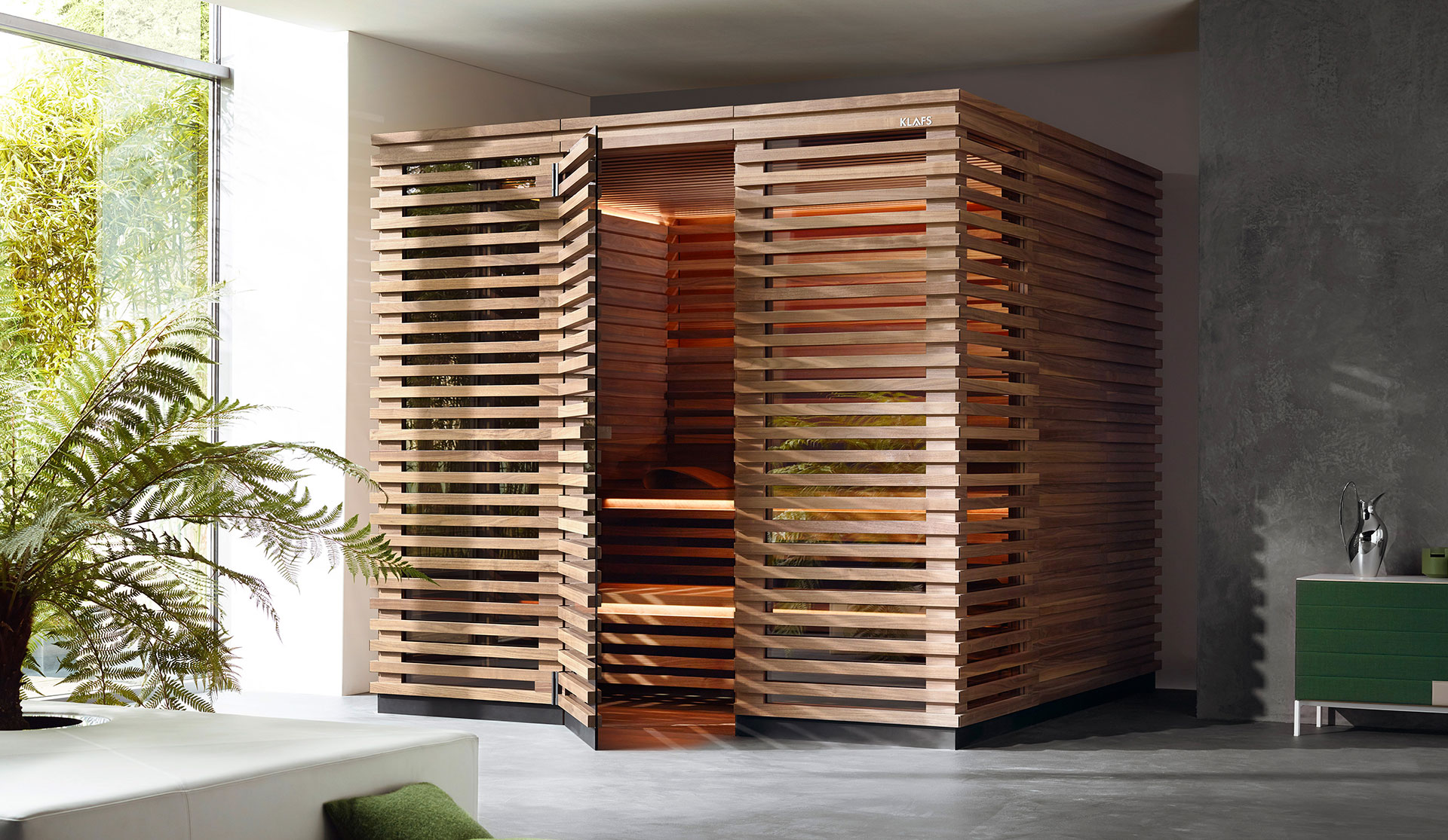 Klafs sauna, designed by Matteo Thun and Antonio Rodriguez
