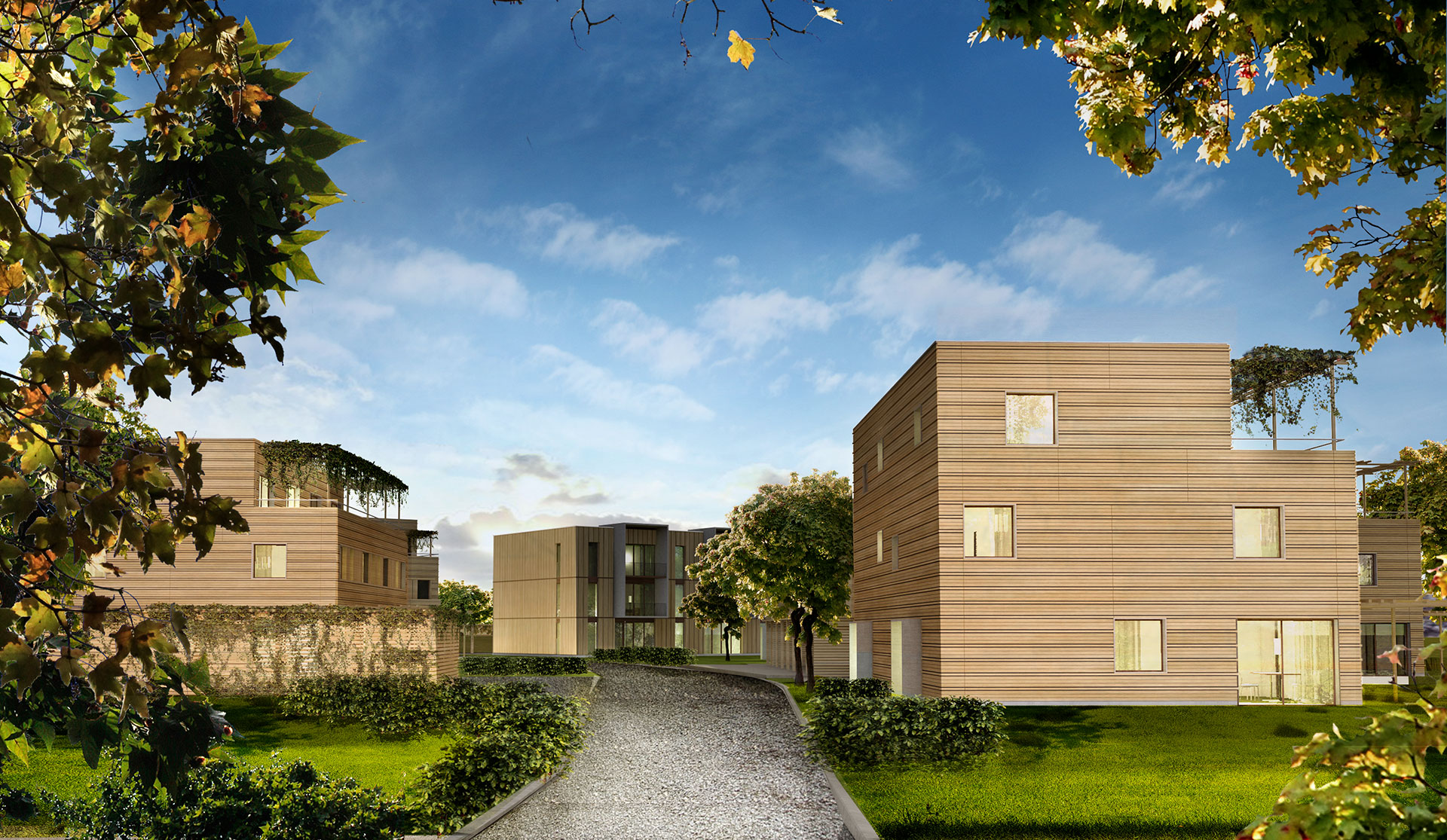 Prefab social housing, City of Wood - Bad Aibling (DE)