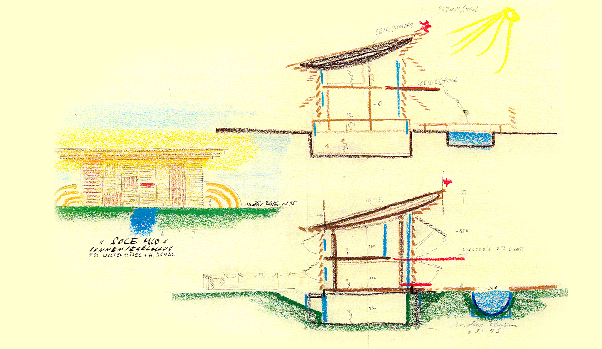 Sketch For O Sole Mio Prefab House System Griffner