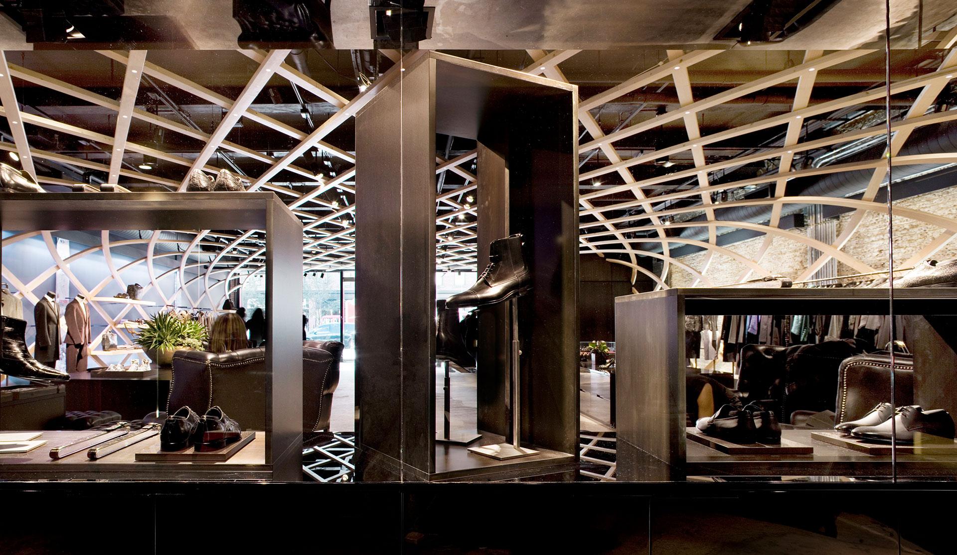 concept store hugo boss matteo thun partners. Black Bedroom Furniture Sets. Home Design Ideas