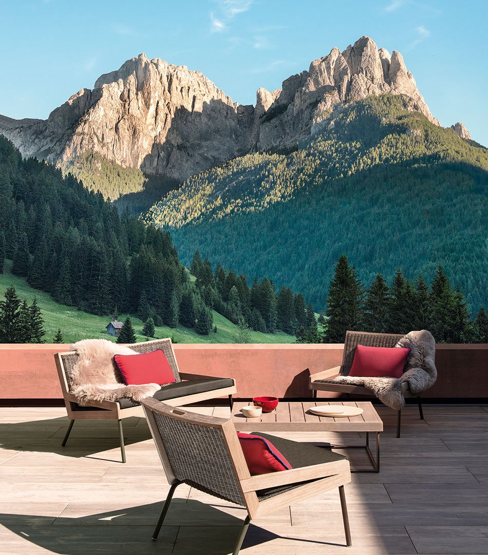 Allaperto, outdoor collection for Ethimo, Mountain armchair.